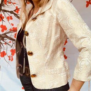 NWT Vint Tracey Reese Bergdorfs brocade blazer XS